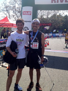 Adrian and Willliam at the finish of the 2013 AR50.